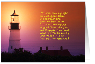 For Husband - From Wife card- Father s Day  Husband  Lighthouse at    Happy Fathers Day Poems For My Husband