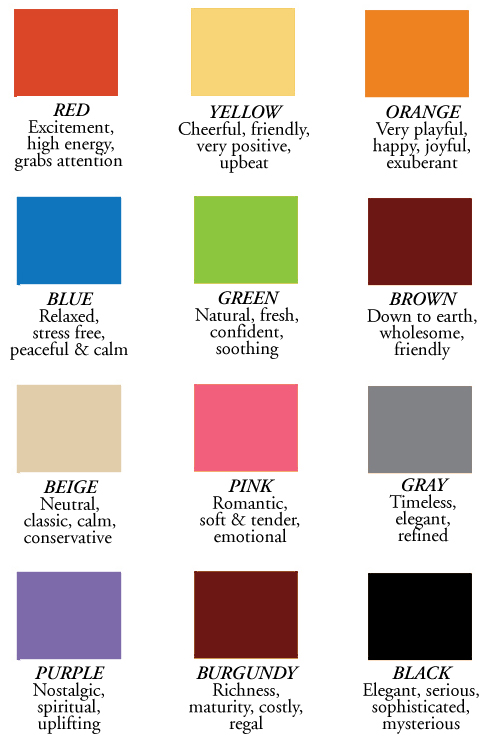 2013 color choice meanings