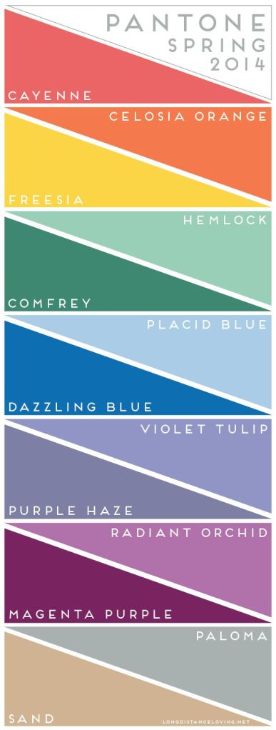 october 7 pantone 2014 spring colors