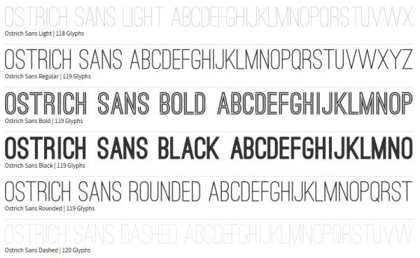 Ostrich Font