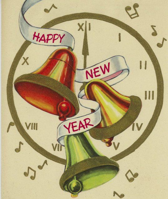 vintage new years card