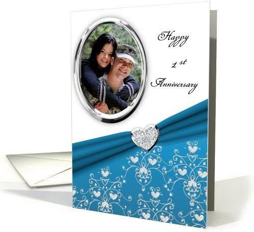 FireShot Screen Capture #589 - 'Elegant Teal Heart Damask 1st Wedding Anniversary Custom Photo card' - www_greetingcarduniverse_com_anniversary-wedding-cards_1st-anniversary_greeting-card-1022747