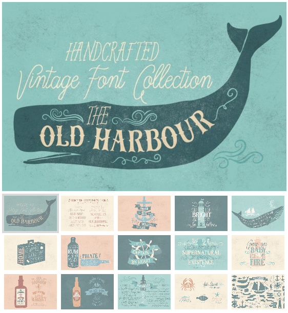 Old Harbour vintage font collection by Anastasia Dimitriadi - TheHungryJPEG.com 2016-05-04 14-30-19