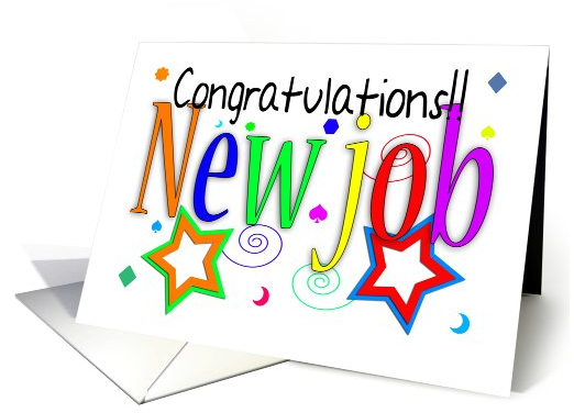 Congratulations New Job Greeting Card - New Job - Congrats card 2016-06-30 11-04-55