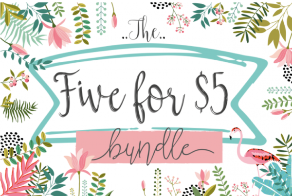 Five Fonts for $5 by TheHungryJPEG - TheHungryJPEG.com 2016-07-20 11-38-43