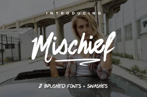 Mischief Font by TheHungryJPEG TheHungryJPEG.com