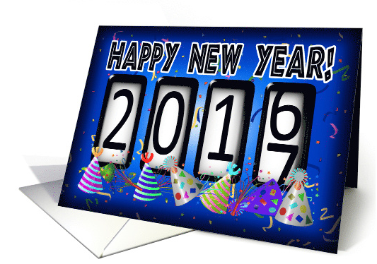 New Years Odometer 2016-2017 Party Hats card (1313126) 2016-08-18 16-28-44