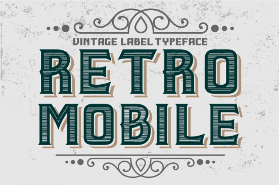 Vintage Label Typeface - Retro Mobile by Vintage Font Lab - TheHungryJPEG.com 2016-08-24 14-15-50