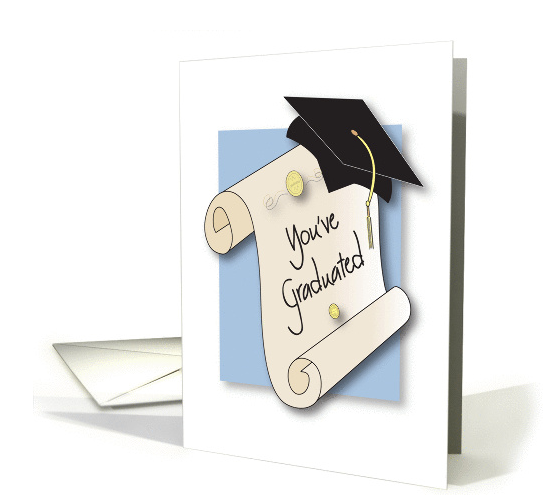 congratulations-on-graduating-with-rolled-diploma-and-mortar-card
