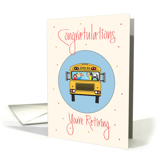 retirement-for-school-bus-driver-bus-with-children-driver-card