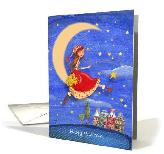 new-year-girl-on-the-moon-catching-stars-card-888951