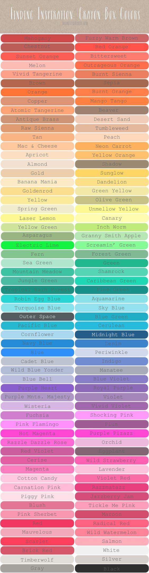 Rainbow Connection Handy Color Charts Gcu Community
