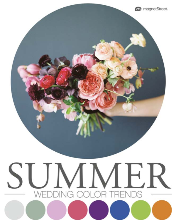 Rainbow connection top 2018 summer wedding color trends gcu community magnetstreet gives you 8 hot color palettes for a swanky summer celebration junglespirit Image collections