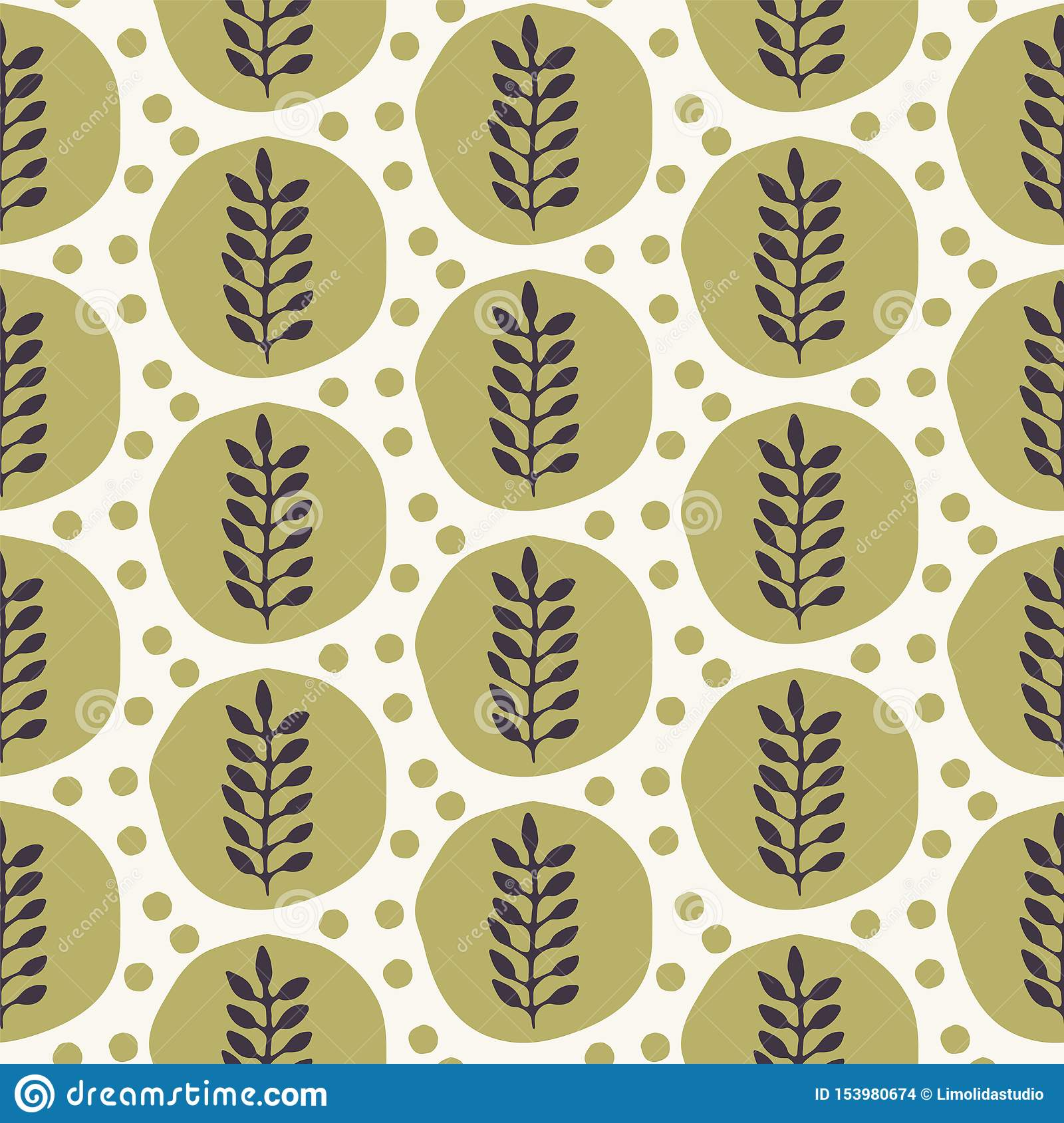 floral-ethnic-leaf-motif-scandi-style-vector-seamless-pattern-folk-art-nature-carved-block-textiles-swatch-modern-monochrome-home-153980674